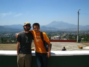 Rob with his Host Couchsurfing in Guatemala