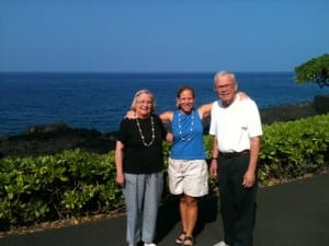 With Mom & Dad at the Sheraton on the Big Island